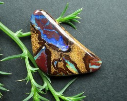 """25cts.""""BOULDER MATRIX OPAL~FROM OUR MINES"""""""