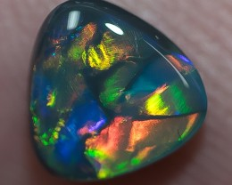 BLACK OPAL LIGHTNING RIDGE NATURAL SOLID 0.87ct GEM BOB200318