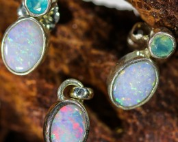 11.65 CTS OPAL SET-PENDANT AND EARRINGS-SILVER -IDEAL GIFT. [SOJ6378a]6