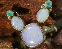26.15 CTS OPAL SET-RING AND EARRINGS-SILVER -IDEAL GIFT. [SOJ6376]