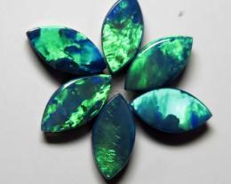 Australian Doublet Opal 6 stone 8x4mm parcel