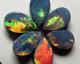 Australian Doublet Opal 6 stone 8x5mm parcel