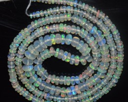 26.45 Ct Natural Ethiopian Welo Opal Beads Play Of Color
