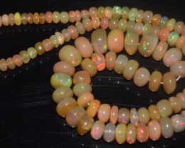64.55 Ct Natural Ethiopian Welo Opal Beads Play Of Color