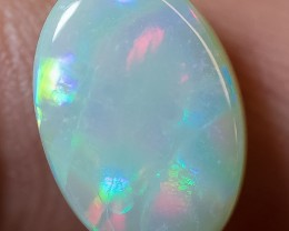 SOLID LIGHT OPAL LIGHTNING RIDGE 3.26ct GEM $1 N/R AUCTION SBD2603