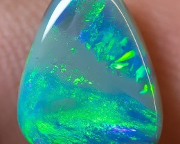 SOLID DARK OPAL LIGHTNING RIDGE 2.19ct GEM $1 N/R AUCTION SBE2603
