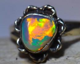 Sz6 Welo Ethiopian Opal Specimen .925 sterling Quality Ring