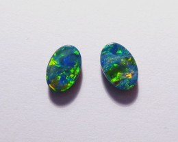 Beautiful pair of Australian Opal Doublets 6x4mm Gem Grade (3062)