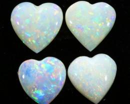 2.93Cts 4pcs  Solid fire opal Coober pedy  opal Parcels sets SU1077