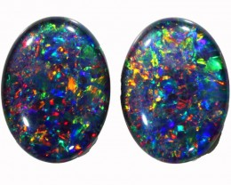 14.85 CTS  TOP GEM GRADE STUNNING TRIPLET OPAL PAIR CELEBRATED [SEDA758]SAF