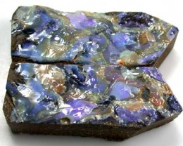 PAIR SPLIT  BOULDER OPAL ROUGH 3.90 0Z OT130