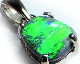SUPERB GREEN LINE FIRE BOULER OPAL PENDANT 1 CT SCO1990