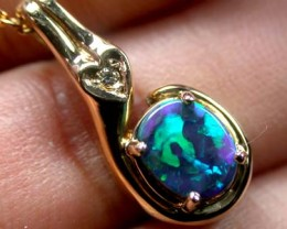 EXQUISITE BLACK OPAL PENDANT 1 CT SCO2005