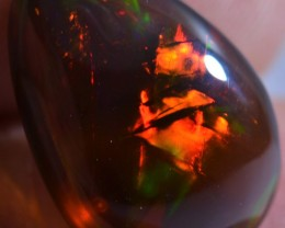 7.26ct BLACK OPAL SOLID RARE FLAWLESS REDS FLASH ESTAYISH