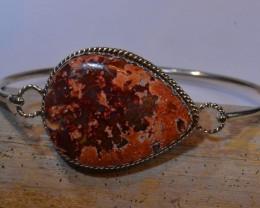 79.5ctw Bracelet Mexican Matrix Opal .925 Sterling  Silver Cuff