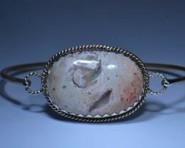 80.5ctw Bracelet Mexican Matrix Opal .925 Sterling Silver Cuff