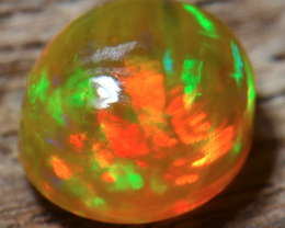 1.20 ct  Mexican Crystal Water Fire  Opal Non Hydrophane Fiery Sol