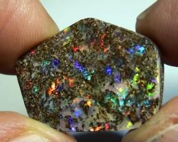 22.70 ct Big Gem Multi Color Natural Queensland Boulder Opal