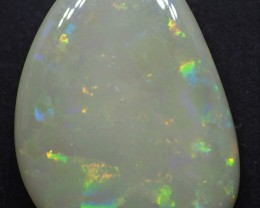 10.95CT SOLID SEMI BLACK LIGHTING RIDGE OPAL TO406