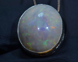 21ct BRIGHT ETHIOPIAN WELO OPAL HIGH QUALITY .925 STERLING PENDANT SPECIMEN