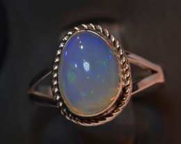 9.25sz HIGH QUALITY STERLING .925 SOLID WELO OPAL RING