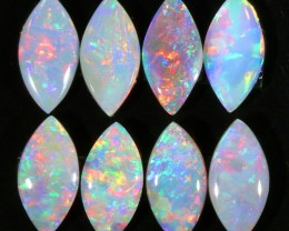 4.50Cts 8pcs Crystal fire  parcel  Coober Pedy Fire Opal  SU1108