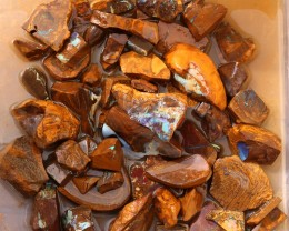 One Kilo Large Boulder Opal Rough Off Cuts  SU1116