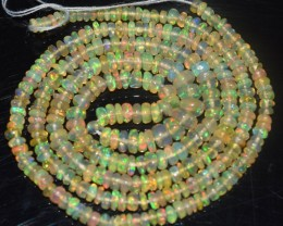 22.35 Ct Natural Ethiopian Welo Opal Beads Play Of Color