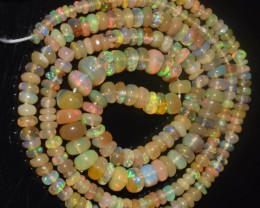 27.50 Ct Natural Ethiopian Welo Opal Beads Play Of Color