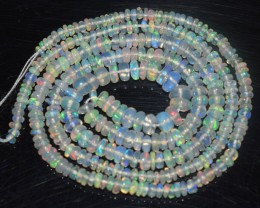 24.95 Ct Natural Ethiopian Welo Opal Beads Play Of Color