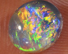 1.15ct 7.8x6.7mm Solid Lightning Ridge Dark Opal [LO-1030]
