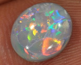 2ct 10x8.5mm Solid Lightning Ridge Dark Opal [LO-1035]
