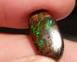 6.65 cts Natural solid boulder opal sparkling electric fire