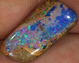 6.4ct 20x10mm Pipe Wood Fossil Boulder Opal  [LOB-1366]