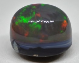 11.65CT SOLID HIGH DOME LIGHTNING RIDGE SEMI BLACK OPAL  TO412