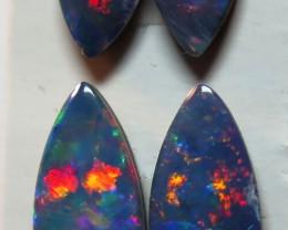Australian Doublet Opal 4 Stone Assorted Drop Shape Parcel