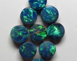 Australian Doublet Opal 9 Stone 5mm Round Shape Parcel