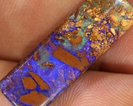 10ct 25x8mm Pipe Wood Fossil Boulder Opal  [LOB-1401]