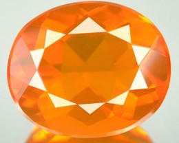 3.77 Cts Natural Mexican Orange Fire Opal Oval NR