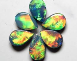 Australian Doublet Opal 6 stone Gem  6x4mm Pear Shape Parcel