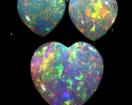0.81CTS HEART SHAPE  CRYSTAL OPAL PARCEL FROM COOBER PEDY- [SEDA896]-25