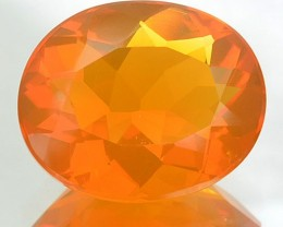 2.52 Cts Natural Fire Orange Mexican Opal Oval NR
