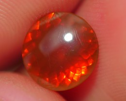 0.90 CRT FIRE OPAL FACETED CLEAR ORANGE YELLOWISH COLOR INDONESIAN OPAL