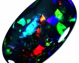 10.30 CTS BLACK OPAL -HARLEQUIN PATTERN-N1 [SEDA928]SAFE