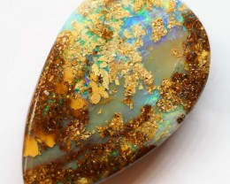16.80CT VIEW PIPE WOOD REPLACEMENT BOULDER OPAL OI62