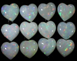5.20 CTS WHITE FIRE OPAL HEART SHAPE PARCEL CALIBRATED[SEDA919]
