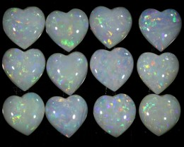 4.98 CTS WHITE FIRE OPAL HEART SHAPE PARCEL CALIBRATED[SEDA920]