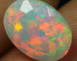 2.55cts Incredible FLASHY COLOR PLAY FACET Ethiopian Opal
