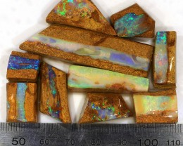 140ct 10Pcs Natural  Boulder Pipe Opal Rough Parcel [BRP-014]