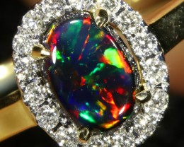 5.2 SIZE BLACK OPAL ENGAGEMENT RING 14 K RING [SOJ1]SH